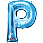 "Blue Letter P Balloon - 34"" Foil"