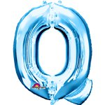 "Blue Letter Q Balloon - 34"" Foil"