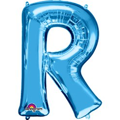 Blue Letter R Balloon - 34