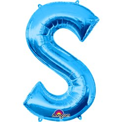 Blue Letter S Balloon - 34
