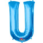 "Blue Letter U Balloon - 34"" Foil"