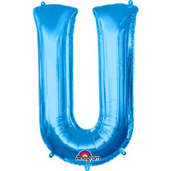 Blue Letter U Balloon - 34