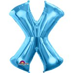 "Blue Letter X Balloon - 34"" Foil"
