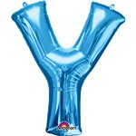 "Blue Letter Y Balloon - 34"" Foil"
