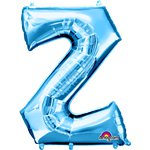 "Blue Letter Z Balloon - 34"" Foil"