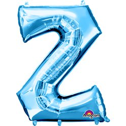 Blue Letter Z Balloon - 34