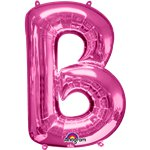 "Pink Letter B Balloon - 34"" Foil"