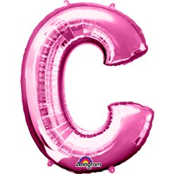 Pink Letter C Balloon - 34