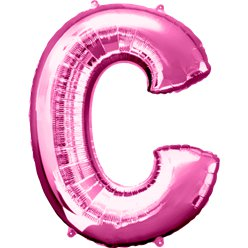 "Pink Letter C Balloon - 34"" Foil"