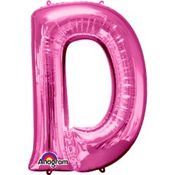 Pink Letter D Balloon - 34