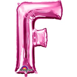 Pink Letter F Balloon - 34