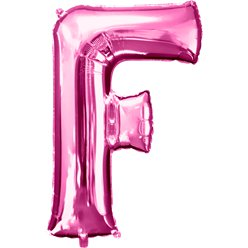 "Pink Letter F Balloon - 34"" Foil"
