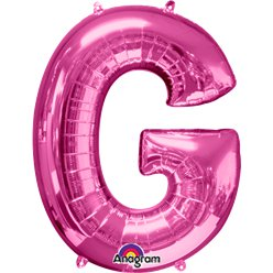 Pink Letter G Balloon - 34