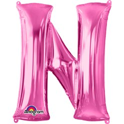 Pink Letter N Balloon - 34