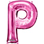 "Pink Letter P Balloon - 34"" Foil"