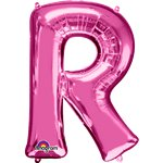 "Pink Letter R Balloon - 34"" Foil"