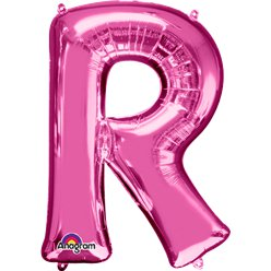 Pink Letter R Balloon - 34