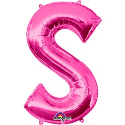 Pink Letter S Balloon - 34