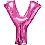 "Pink Letter Y Balloon - 34"" Foil"