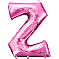 Pink Letter Z Balloon - 34