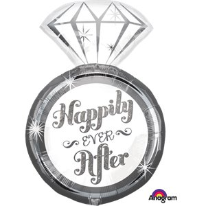 Happily Ever After Ring SuperShape Balloon - 27