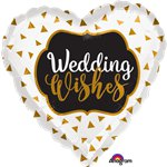 Gold Wedding Wishes Foil - 18""