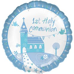 "First Holy Communion Blue Balloon - 18"" Foil"