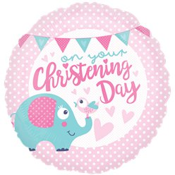 Pink Christening Day Balloon - 18