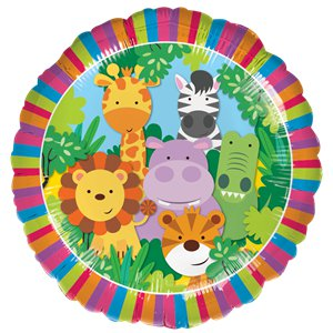 Jungle Animals Balloon Bouquet - Assorted Foil