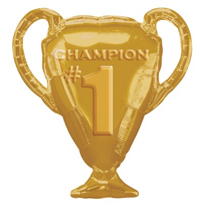 Gold Trophy Foil Balloon - 25
