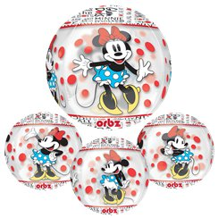 "Minnie Mouse Clear Orbz Balloon - 16""-18"" Foil"