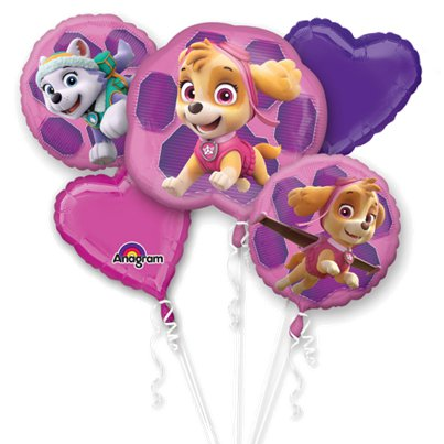 Pink Paw Patrol Balloon Bouquet - Assorted Foil
