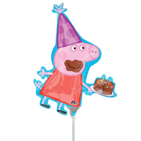 Peppa Pig Mini Foil Balloon 10 Party Delights