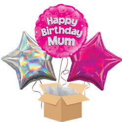 Mum Happy Birthday Balloon Bouquet - Delivered Inflated