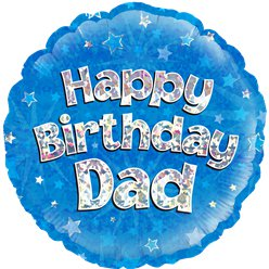 "Happy Birthday Dad Blue Balloon - 18"" Foil"
