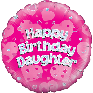 Happy Birthday Daughter Pink Balloon - 18