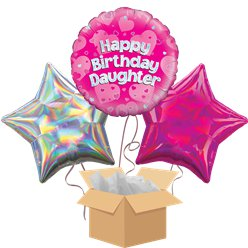 Daughter Happy Birthday Balloon Bouquet - Delivered Inflated