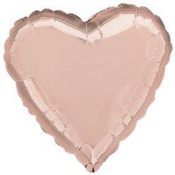 Rose Gold 18 Heart Foil Balloon