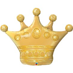 "Golden Crown Balloon - 41"" Foil"