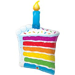 "Rainbow Cake Slice Balloon - 42"" Foil"