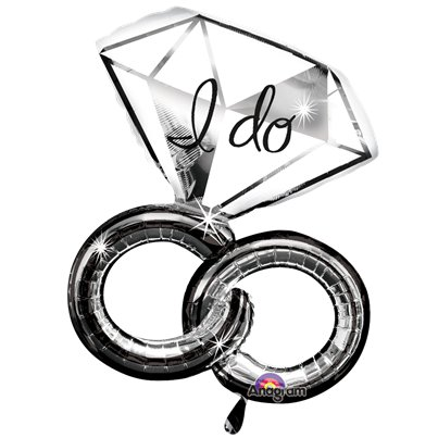 "I Do Wedding Rings SuperShape Balloon - 30"" Foil"