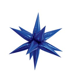 "Blue 3D Starburst Balloon - 27"" Foil"