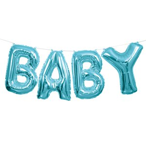 Baby Blue Phrase Balloon Bunting - 14
