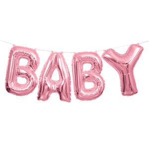 Baby Pink Phrase Balloon Bunting - 14