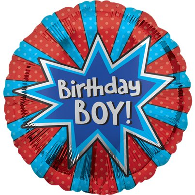 "Birthday Boy Balloon - 18"" Foil"