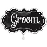 Groom Chalkboard SuperShape Balloon - 27