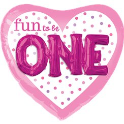 "Fun To Be One  Heart 3D SuperShape Balloon - 36"" Foil"