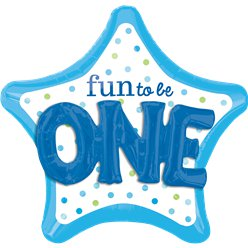 "Fun To Be One Blue 3D SuperShape Balloon - 36"" Foil"