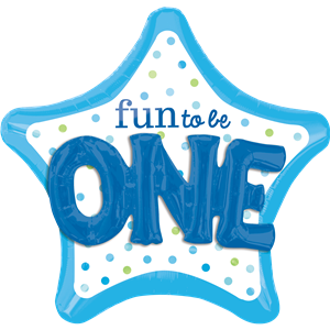 Fun To Be One Blue 3D SuperShape Balloon - 36
