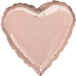 "Rose Gold Heart Shaped Balloon - 36"" Foil"
